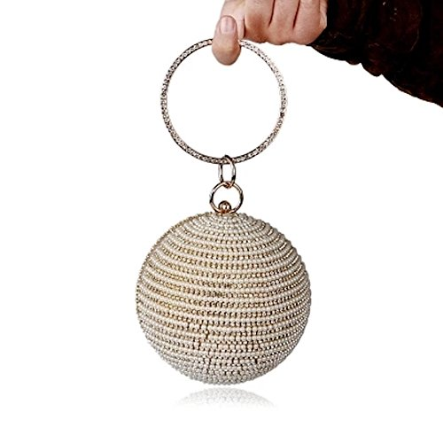bag Bag Bag bag Spherical Round clutch pearl Spherical bag Evening qFSHEf