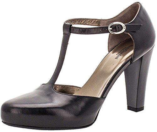 NeroGiardini 513600 Negro, sandalias, alto 8-12cm, piel, Redonda, Otoño/Invierno
