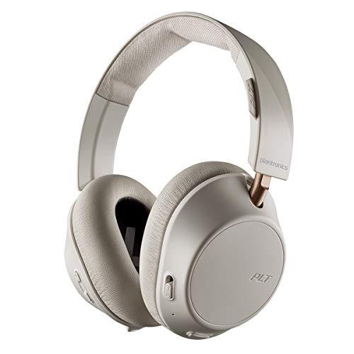Plantronics BackBeat GO 810 Wireless Headphones, Active Noise Canceling Over Ear Headphones, Bone White