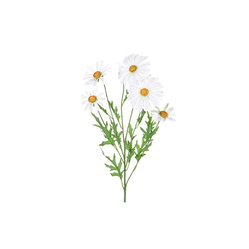 silk flower arrangements three stems of artificial silk white daisy sprays