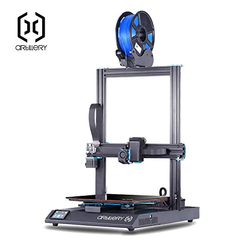 Artillery Sidewinder X1 3D Printer 2019 Newest 95% Pre-Assembled 300x300x400 Model with Dual Z Axis Ultra-Quiet Printing 0.6mm Direct Drive Extruder Filament Runout Detection and Recovery