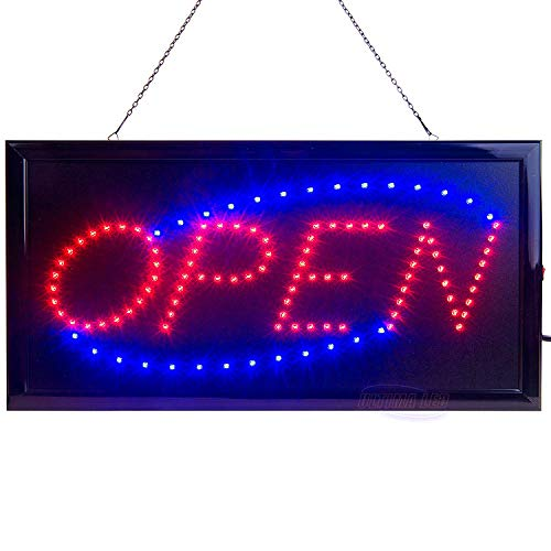 LED Open Sign for Business Displays: Light Up Sign Open with 2 Flashing Modes - Electronic Lighted Signs for Shops, Hotels, Liquor Stores - No use of Toxic Neon (19 x 10 inches, Model 2) from Ultima LED