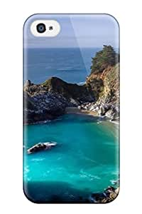 Excellent Iphone 4/4s Case Tpu Cover Back Skin Protector Julia Pfeiffer Burns State Park by mcsharks