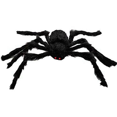 GIANT POSEABLE HAIRY HALLOWEEN SPIDER - Over 3 Feet Wide (Large Halloween Spider Prop)