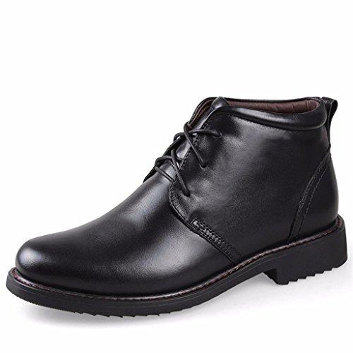 Moonwalker Men's Full Grain Leather Dress Chukka Ankle Boots Fur Lining (6 D(M) US,Black)