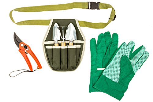 Garden-Key-Portable-6-piece-Garden-Tool-Set-with-Gardening-Belt