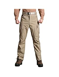 Realdo Mens Daily Casual Solid Straight Outdoors Work Trousers Cargo Pants