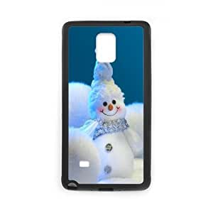 Snow Man Christmas Decoration Samsung Galaxy Note 4 Cell Phone Case Black phone component AU_582694