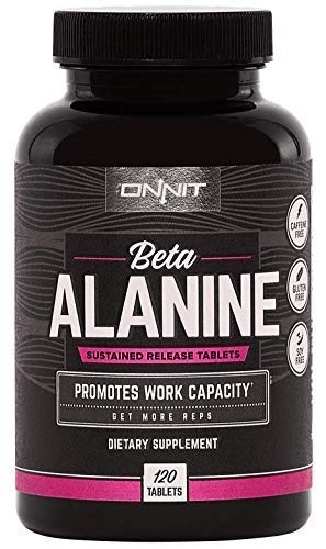 Onnit Beta Alanine Tablets (120ct) | Boost Work Capacity, Buffer Lactic Acid & Get More Reps | Caffeine Free