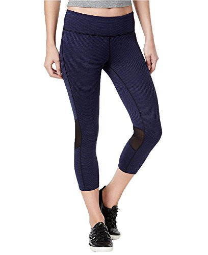 Calvin Klein Performance Women's Space-Dyed Cropped Leggings (Small, Indigo)
