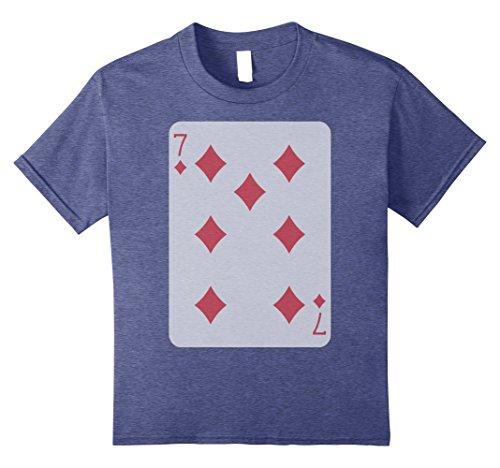 Kids Seven Diamonds Shirt Play Poker Lucky Player Winner Costume 12 Heather (7 Diamonds Kids Shirt)