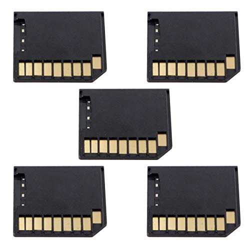 5pcs Micro SD TF to SD Card Kit Mini Adaptor Low Profile for Extra Storage MacBook Air/Pro/Retina Black
