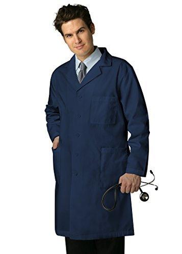 ADAR UNIFORMS Adar Universal Mens 39'' Labcoat with Inner Pockets - 803 - Navy - 44 by ADAR UNIFORMS