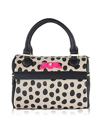 BETSEY JOHNSON INSULATED SPEEDY LUNCH TOTE,SPOTS