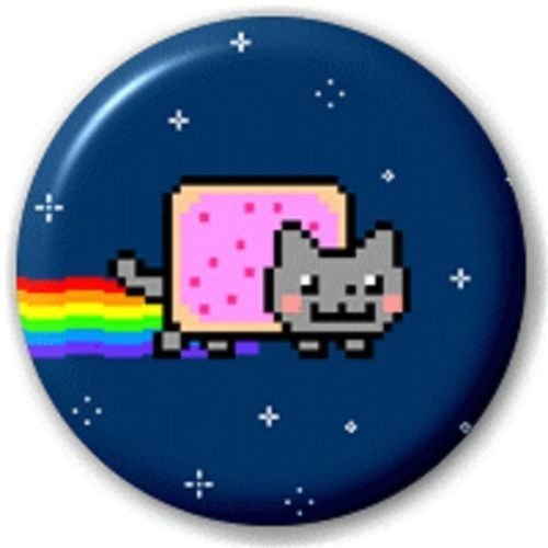 PETIT 25mm NYAN CAT - BROCHE INSIGNE DE BOUTON