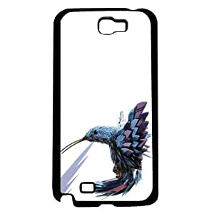 Blue and Purple Hummingbird on White Background Hard Snap on Phone Case (Note 2 II)