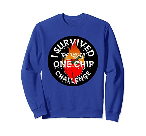 Unisex Paqui One Chip Challenge Ghost Pepper Survival Sweatshirt Large Royal Blue Chip And Pepper Clothes