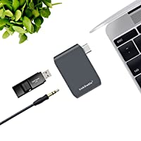 LinkStable Aluminum USB-C (G1) Docking Station, Stereo Audio Adapter External Sound Card with USB 3.0, Thunderbolt Type-C Pro Hub Adapter Driver Free on MacOS, Windows and Linux