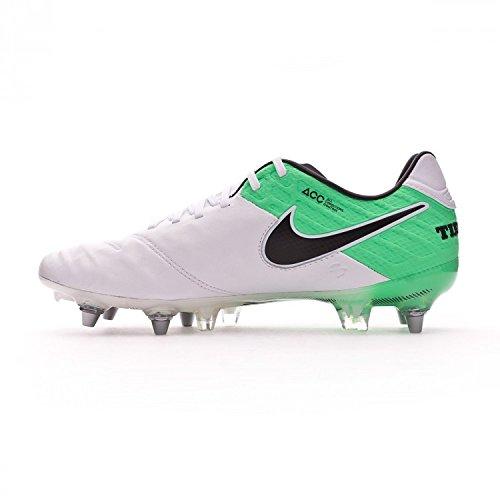 Zapatillas De Fútbol Nike Tiempo Legend Vi Sg Pro Blanco Electro Green 819680-104 Sz 7.5