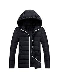 Ellove Fashion Teenager Warm Hooded Overcoat Zipper Packable Ski Jacket Outwear
