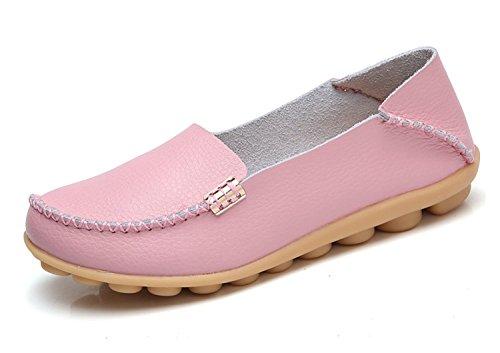 Blivener - Mocasines Casuales, Para Caminar, Zapatos Planos, Confortables, Verano, Pantuflas, Rosa
