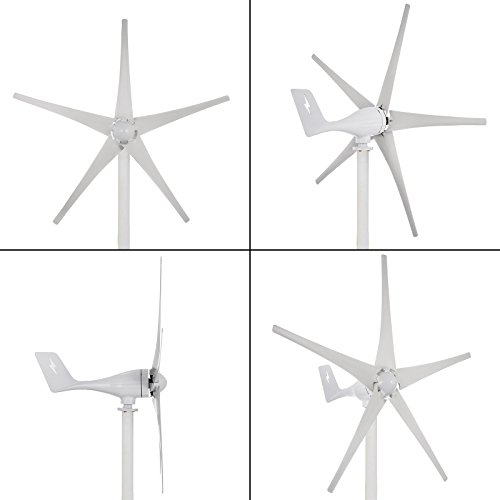 Happybuy Wind Turbine Generator 500W DC 24V Wind Turbine 5 Blade Low Wind Speed Starting NSK Bearings Garden Street Lights Wind Turbines with Charge Controller Garden by Happybuy (Image #9)