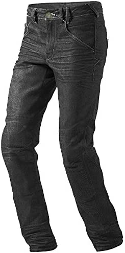 JET Motorcycle Jeans Kevlar Safety Trousers Aramid Lined Jeans Armoured Black, W 44 L 34