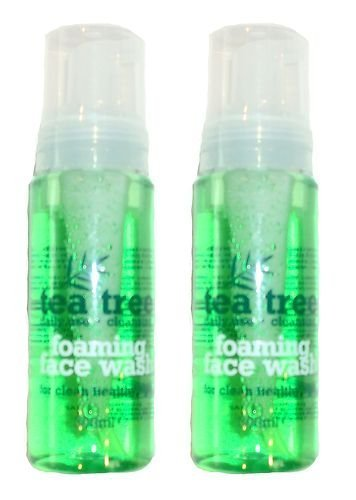 2 X TEA TREE FOAMING FACE WASH 200ml FOR HEALTHY CLEAN SKIN - DAILY USE by Tea Tree
