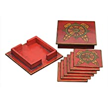 Store Indya Handmade Coasters for Drinks Coffee Tea Table Office & Home (Design 7)