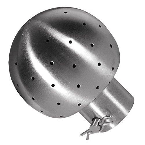 1-1//2 Dixon Sanitary STC Stationary Spray Ball w// 180/° Bottom Spray Pattern
