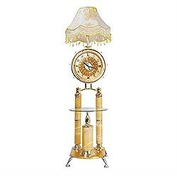 Floor lamp Quartz clock Marble Crystal Decorative lamp Floor Uplight Lamp