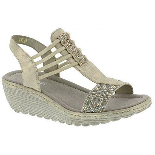 Bar K3747 Womens EU 6 T UK Elasticated 39 Brillastic Rieker Sandals 60 wZ6IgqgR