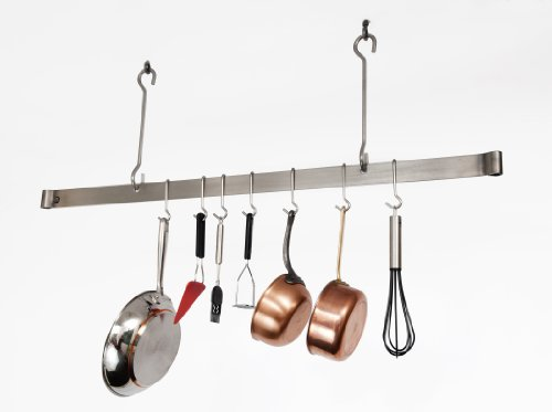 Enclume Offset Hook Ceiling Bar, 48-Inch (Steel Pot Rack Offset)