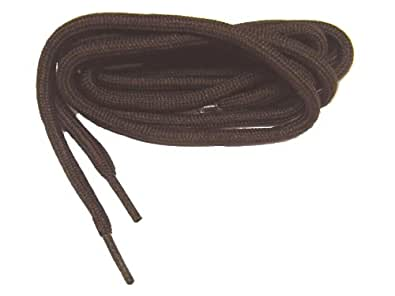 36 Inch Chocolate Brown 3/16 Large Diameter proMAX(TM) Polyester Hiker Boot Laces Shoelaces (2 Pair Pack)