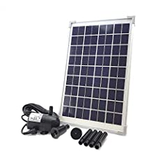 AEO WP40SP10 Solar Panel & Water Pump KIT is special designed for your DIY garden projects like solar fountains, pond circulation, aquariums, aquaculture, greenhouses, solar education, boating, bilge substitute or any off-grid/remote wate...