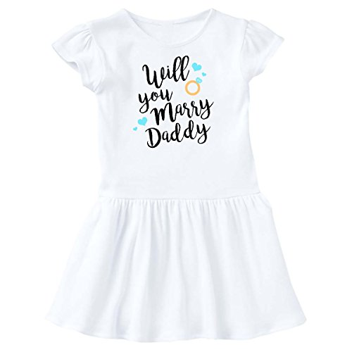 inktastic - Will You Marry Daddy-Ring Toddler Dress 2T White 281c6