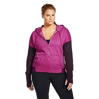 Champion C9 Women's Plus Size Active Fleece Hoodie (XX-Large, Magenta Zest)