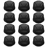 12pcs Dome Caps, Mesh Dome Wig Cap Black Elastic Wig Caps Stretchable Spandex Dome Caps Breathable Nylon Light Hair Mesh Net for Men Women Wigs Making