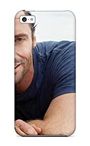 For Iphone 5c Premium Tpu YY-ONE Men Male Celebrity Hugh Jackman On The Beach8722 Protective Case