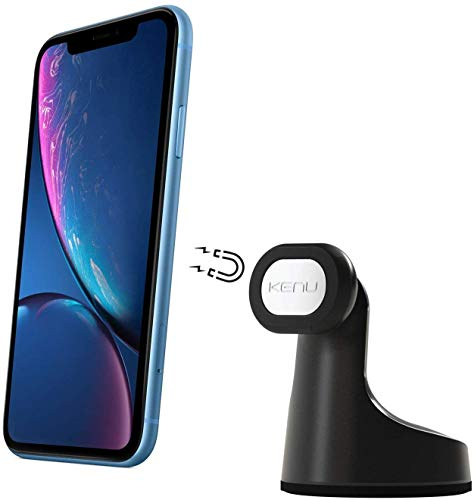 Kenu Airframe+   Vent Car Phone Mount Holder   Android, Samsung, iPhone 11 Pro Max/11 Pro/11, iPhone Xs Max/Xs/X/XR, iPhone 8 Plus/8, iPhone 7 Plus/7, iPhone 6s Plus/6s, iPhone 6 Plus/6   Black