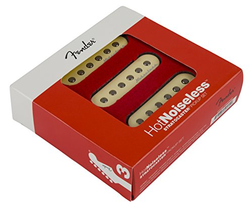 Fender Strat Hot Noiseless Pickups, Aged White, Set Of 3 Electric Guitar Part -