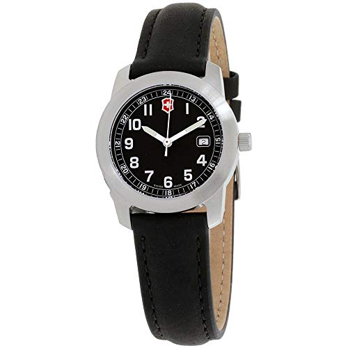 Victorinox Field Black Dial Leather Strap Ladies Watch 26011CB