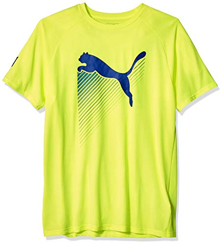 Puma Running Tee - PUMA Men's The CAT Tee, Fizzy Yellow Heather, M