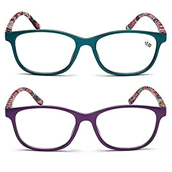 Amazon.com: Inlefen 2 Pack Reading Glasses,Eyeglasses with