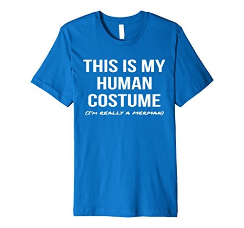 Merman Halloween Costume (Mens Human Costume I'm a Merman Shirt Halloween Cosplay Tee 3XL Royal Blue)
