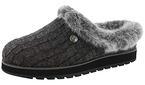 BOBS from Skechers Women's Keepsakes Ice Angel Slipper, Charcoal, 5 M US
