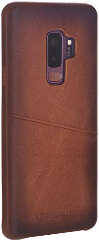 StilGut Samsung Galaxy S9+ Case, Leather Wallet Cover for Samsung S9+ (Plus), Slim Case with Credit Card Holder, Premium Vintage Cognac Brown