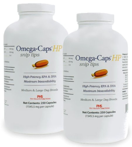 Omega-Caps HP Snip Tips for Medium and Large Breeds (500 Caps), My Pet Supplies