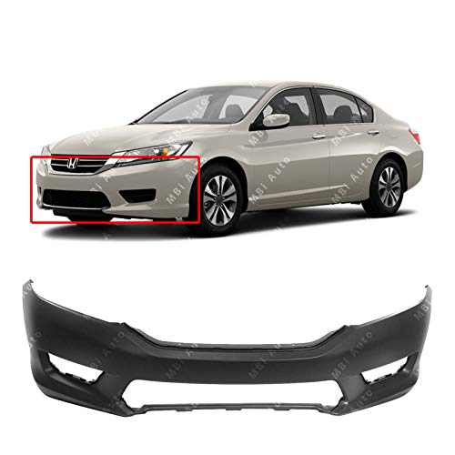 MBI AUTO - Primered, Front Bumper Cover Fascia for 2013 2014 2015 Honda Accord Sedan 13 14 15, -