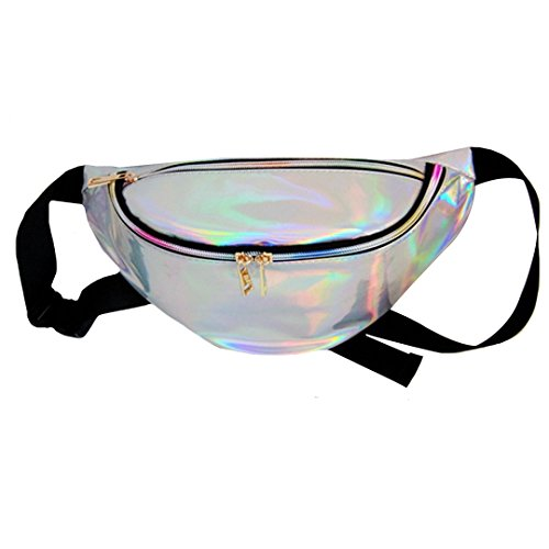 Dolores Women's PVC Hologram Fanny Pack Belt Waist Bum Bag Laser Travel Beach Purse, - All One In Mens Costume Swimming